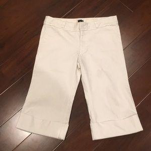 Gap stretch crop cuff jeans size 14 white